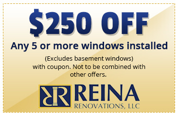 $250 OFF Any 5 more windows installed